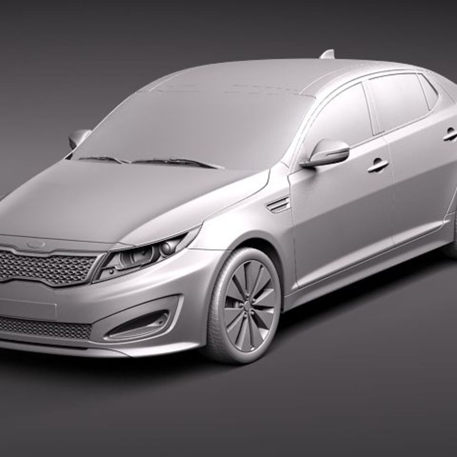 Kia Optima 2011 royalty-free 3d model - Preview no. 9
