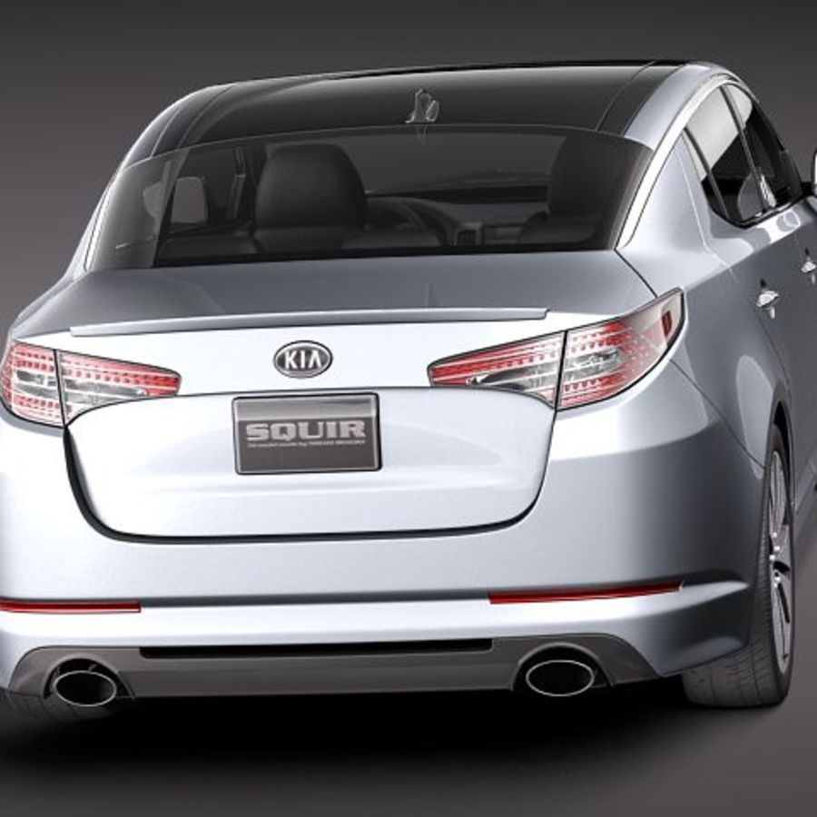 Kia Optima 2011 royalty-free 3d model - Preview no. 6