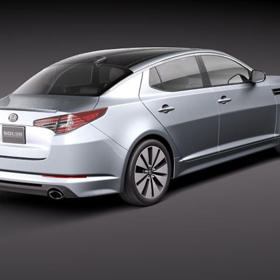 Kia Optima 2011 royalty-free 3d model - Preview no. 5