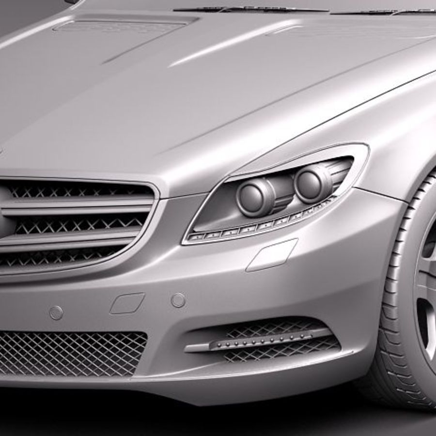 Mercedes CL 2011 royalty-free 3d model - Preview no. 10