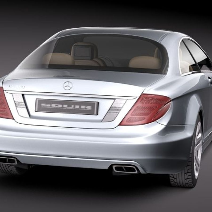 Mercedes CL 2011 royalty-free 3d model - Preview no. 6