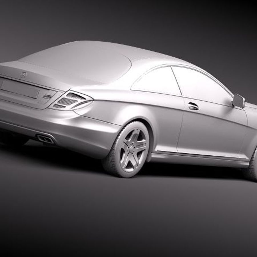 Mercedes CL 2011 royalty-free 3d model - Preview no. 12