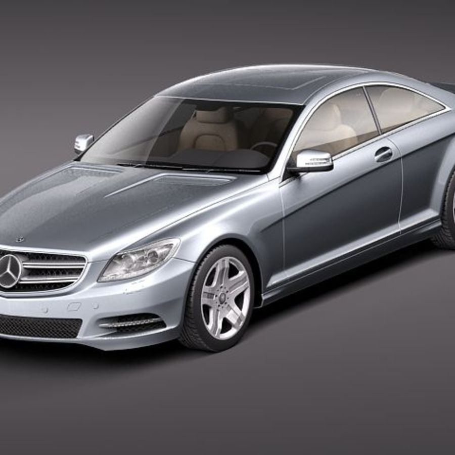 Mercedes CL 2011 royalty-free 3d model - Preview no. 1