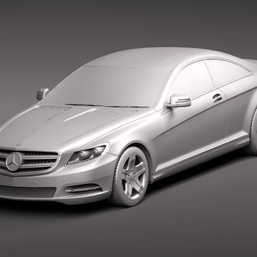 Mercedes CL 2011 royalty-free 3d model - Preview no. 9