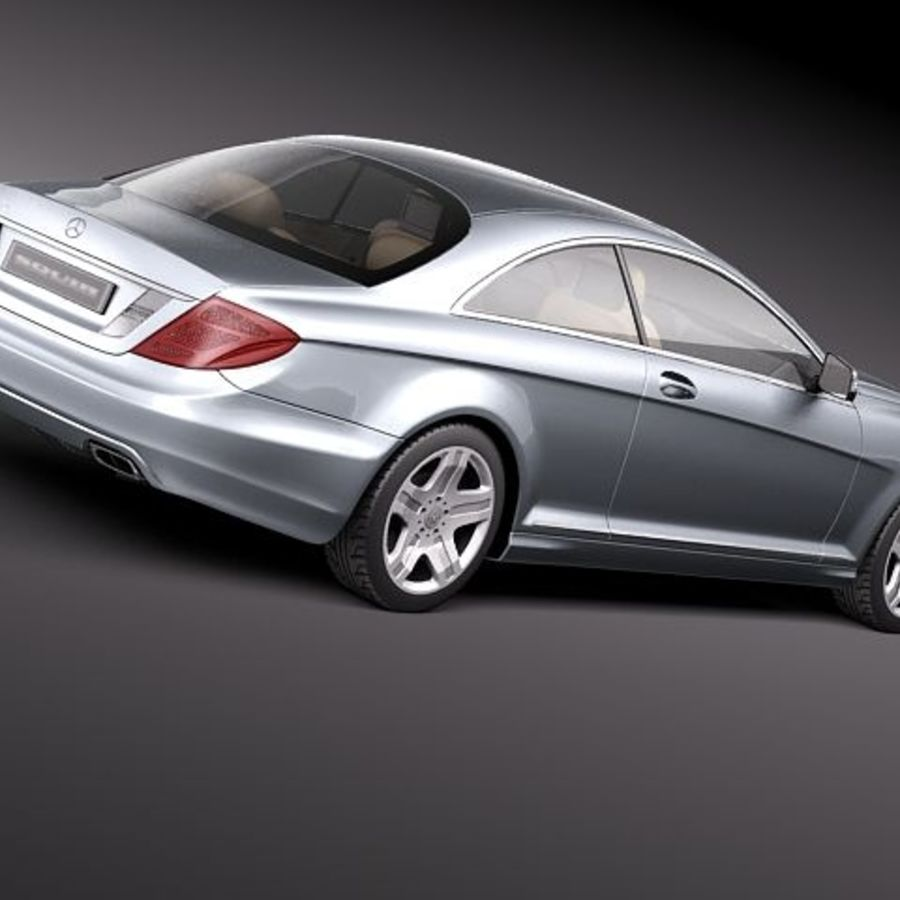 Mercedes CL 2011 royalty-free 3d model - Preview no. 5