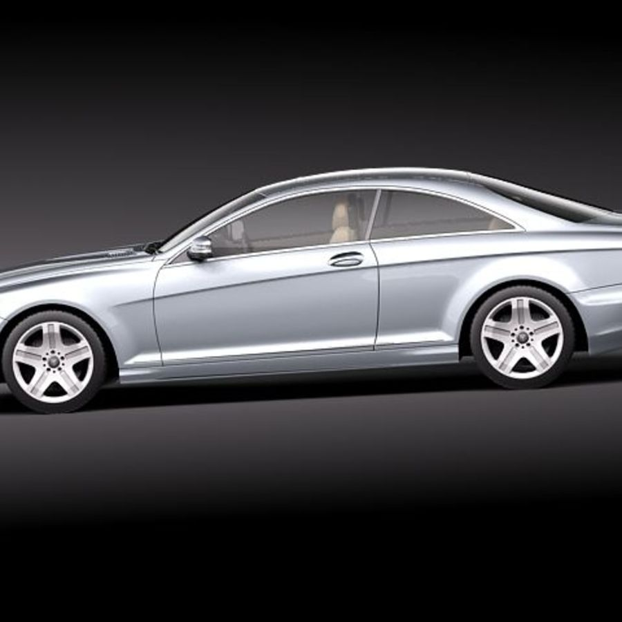 Mercedes CL 2011 royalty-free 3d model - Preview no. 7