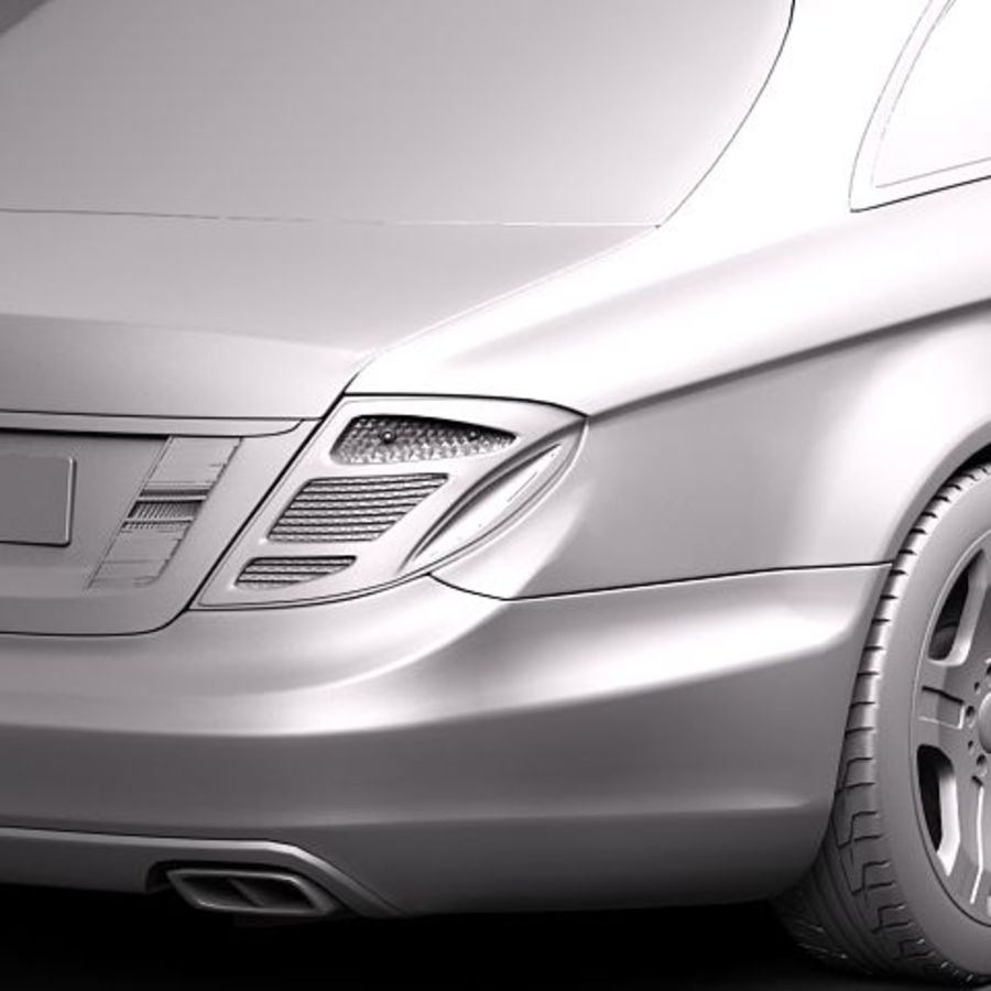 Mercedes CL 2011 royalty-free 3d model - Preview no. 11