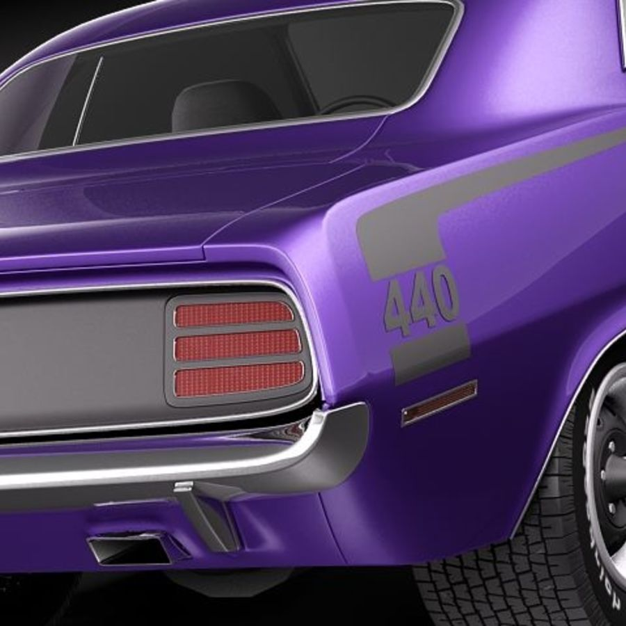 Plymouth Barracuda 1970 Hemi royalty-free 3d model - Preview no. 4