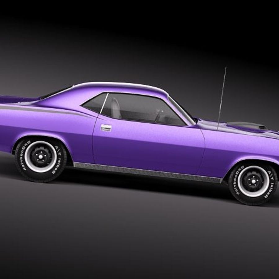 Plymouth Barracuda 1970 Hemi royalty-free 3d model - Preview no. 7