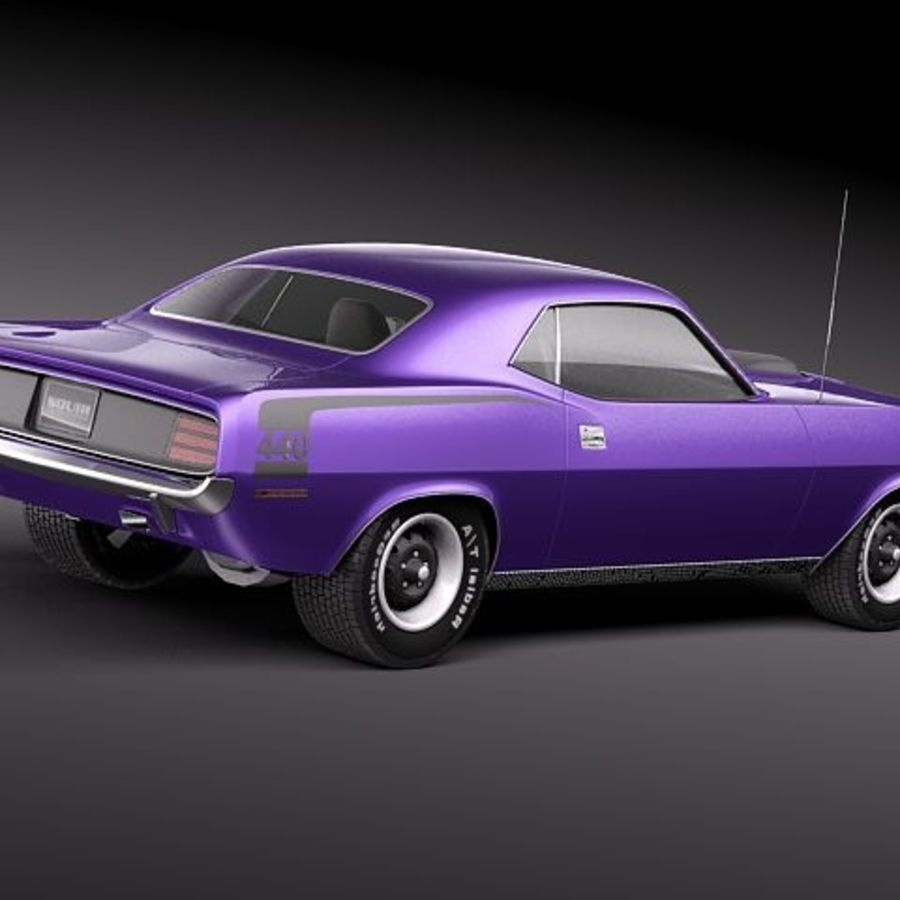 Plymouth Barracuda 1970 Hemi royalty-free 3d model - Preview no. 6