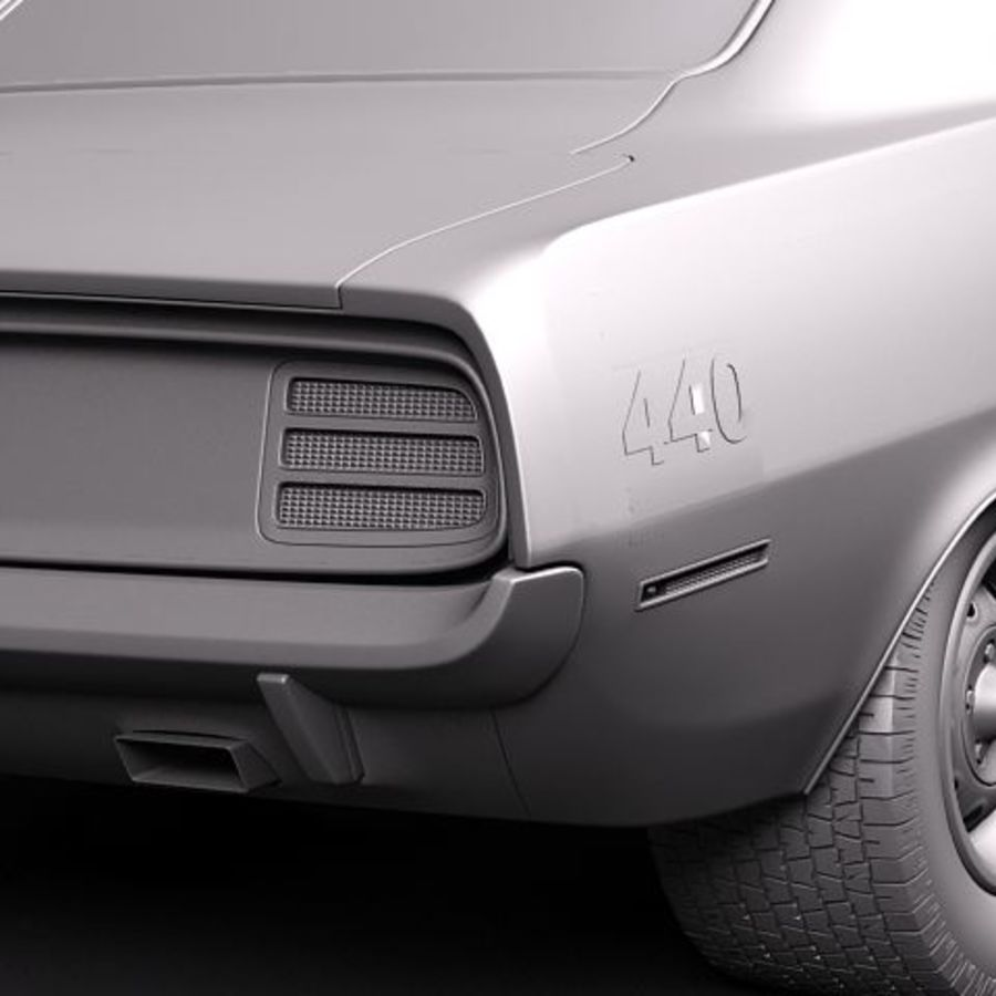 Plymouth Barracuda 1970 Hemi royalty-free 3d model - Preview no. 10