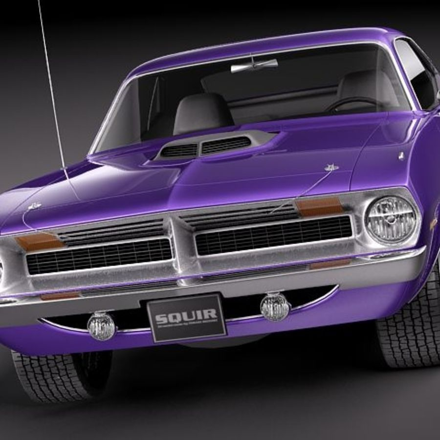 Plymouth Barracuda 1970 Hemi royalty-free 3d model - Preview no. 2