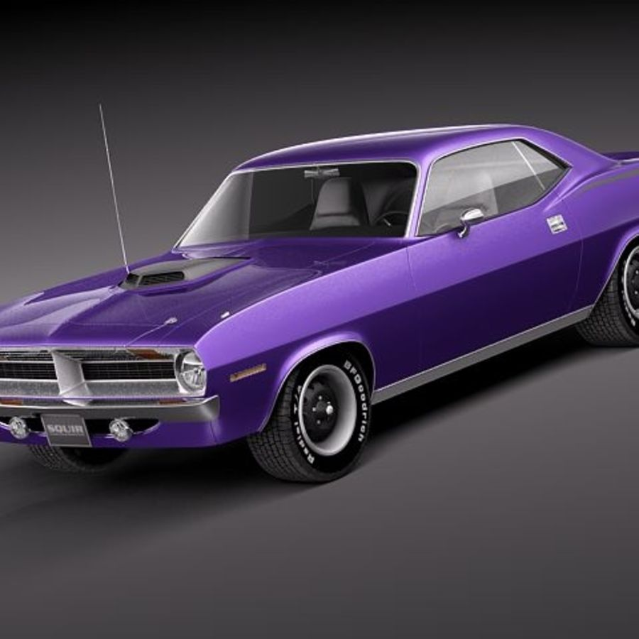 Plymouth Barracuda 1970 Hemi royalty-free 3d model - Preview no. 1