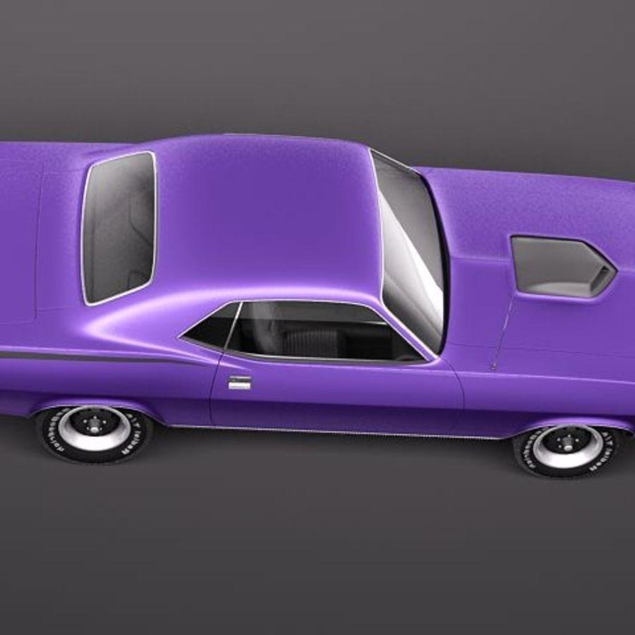 Плимут Барракуда 1970 Hemi royalty-free 3d model - Preview no. 8