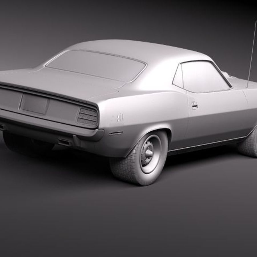 Plymouth Barracuda 1970 Hemi royalty-free 3d model - Preview no. 9