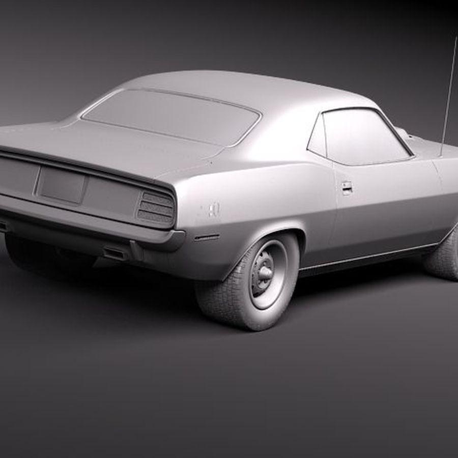 Плимут Барракуда 1970 Hemi royalty-free 3d model - Preview no. 9