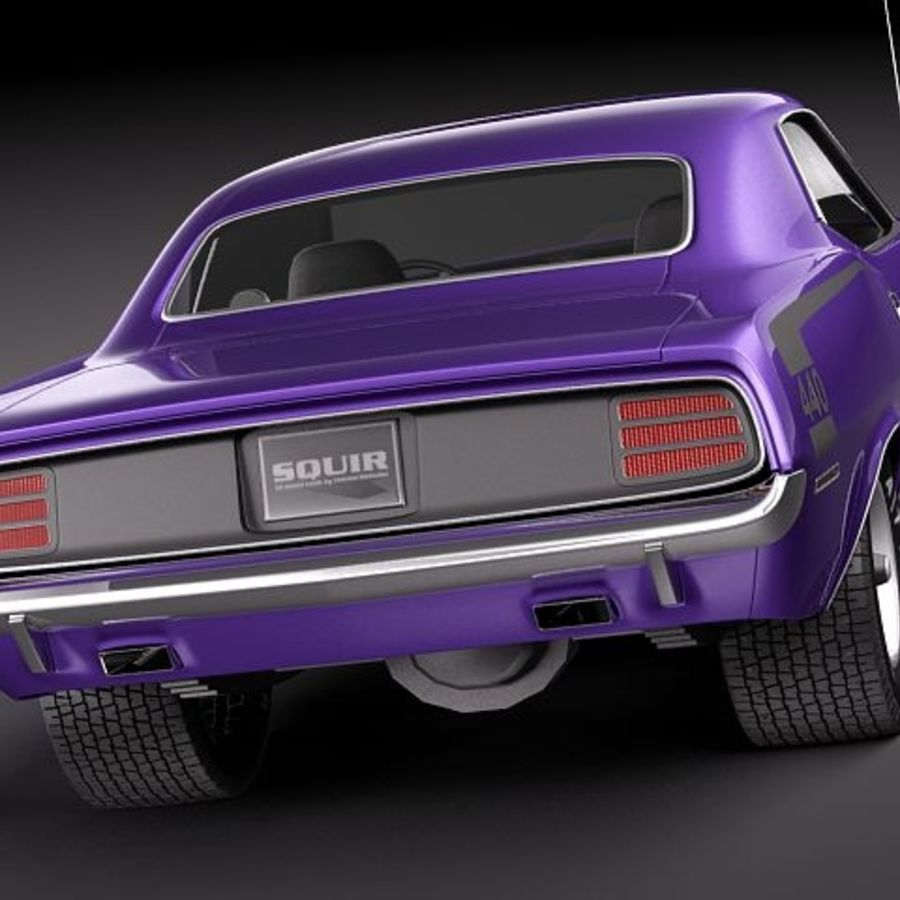 Plymouth Barracuda 1970 Hemi royalty-free 3d model - Preview no. 5