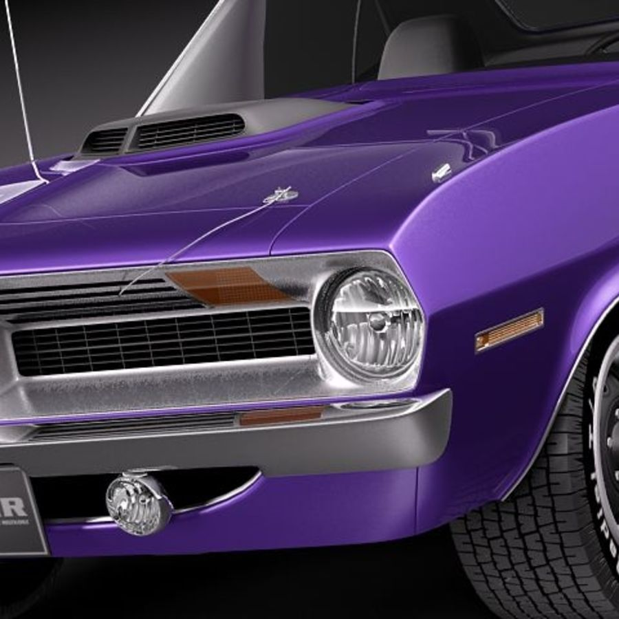Plymouth Barracuda 1970 Hemi royalty-free 3d model - Preview no. 3