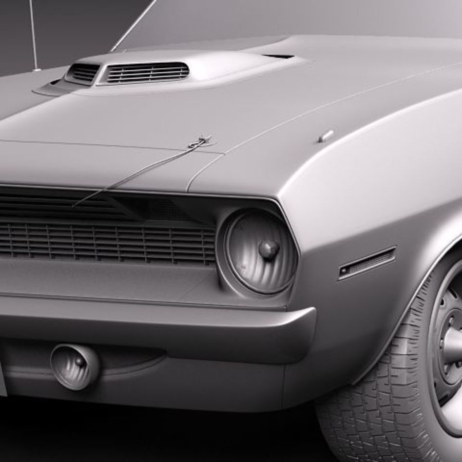 Plymouth Barracuda 1970 Hemi royalty-free 3d model - Preview no. 11