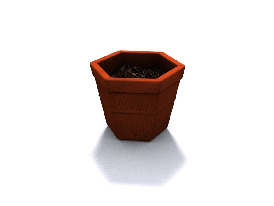 Plant Pot royalty-free 3d model - Preview no. 4