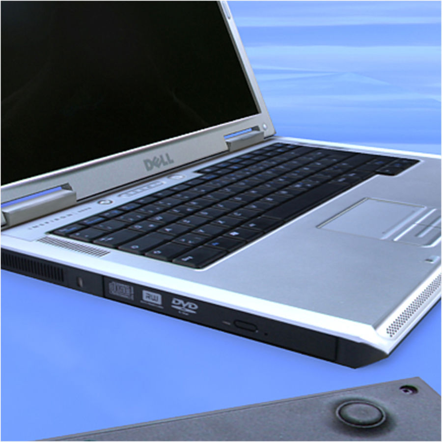 Dell Notebook royalty-free 3d model - Preview no. 9