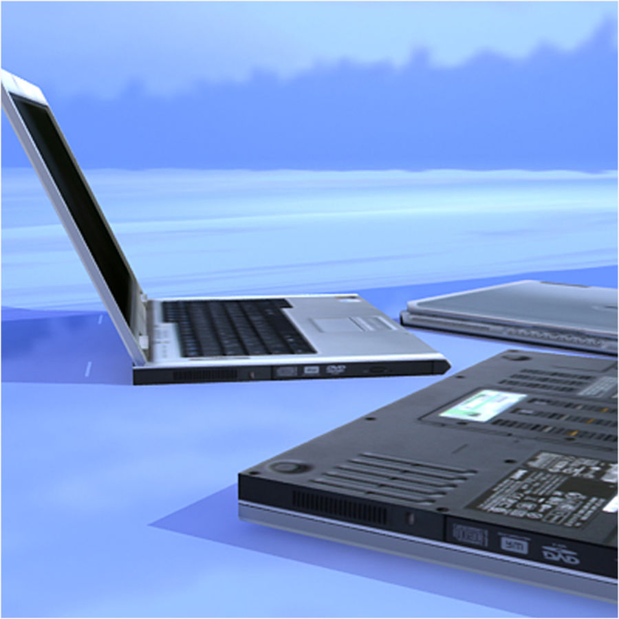 Dell Notebook royalty-free 3d model - Preview no. 8