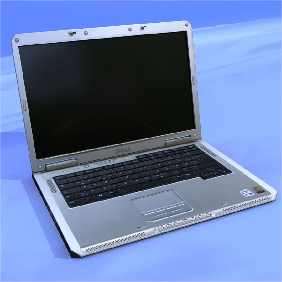 Dell Notebook royalty-free 3d model - Preview no. 1