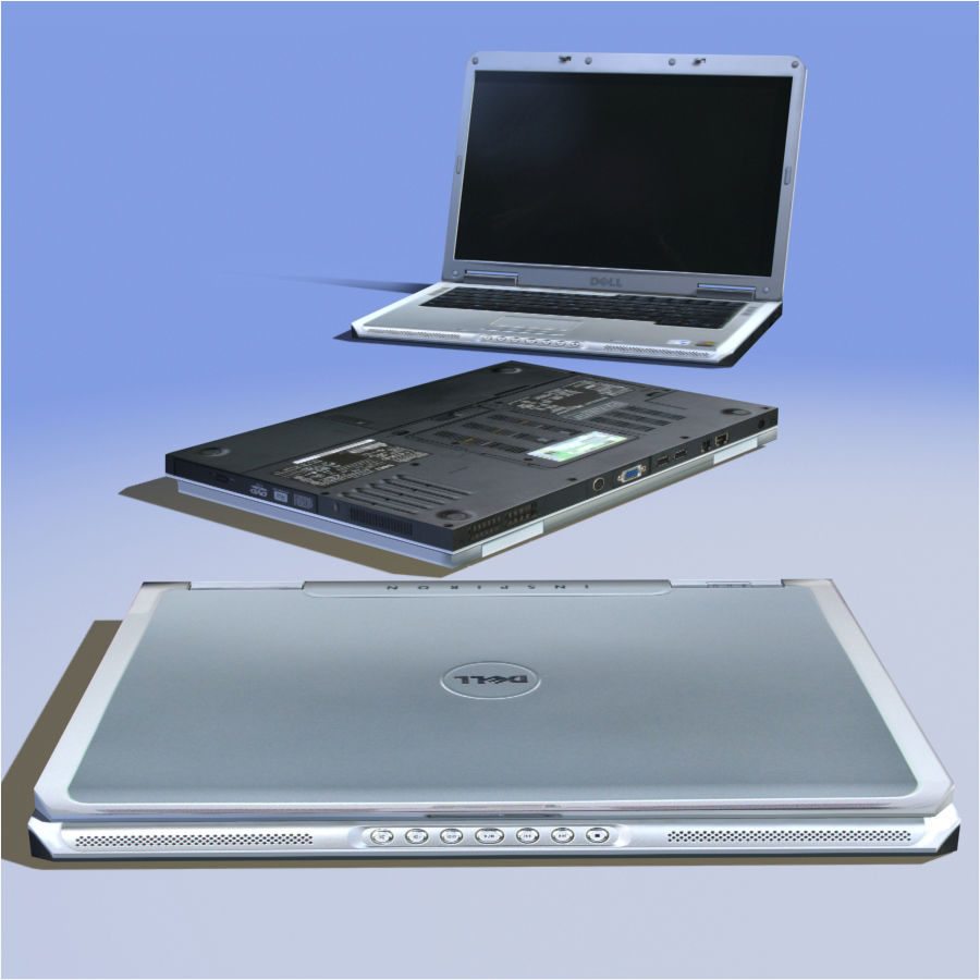 Dell Notebook royalty-free 3d model - Preview no. 16
