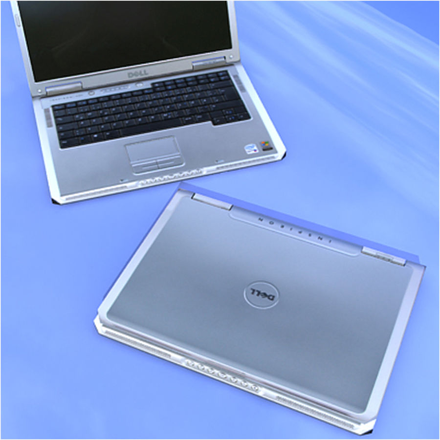 Dell Notebook royalty-free 3d model - Preview no. 6
