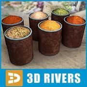 Stora kryddglasburkar av 3DRivers 3d model
