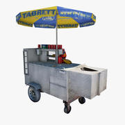 Hot Dog Vendor 3d model