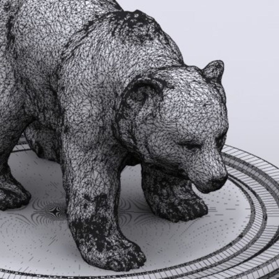 3D Bear royalty-free 3d model - Preview no. 8