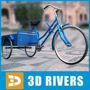Bicicleta china con remolque por 3DRivers modelo 3d