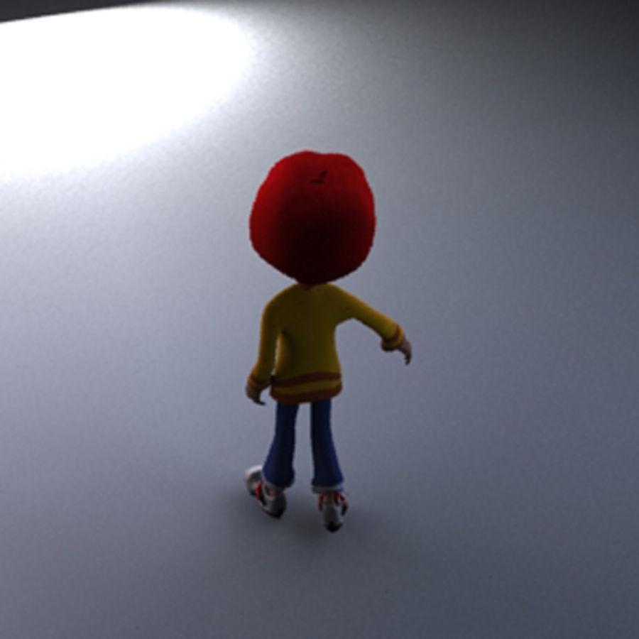 Cartoon boy Dean royalty-free 3d model - Preview no. 10