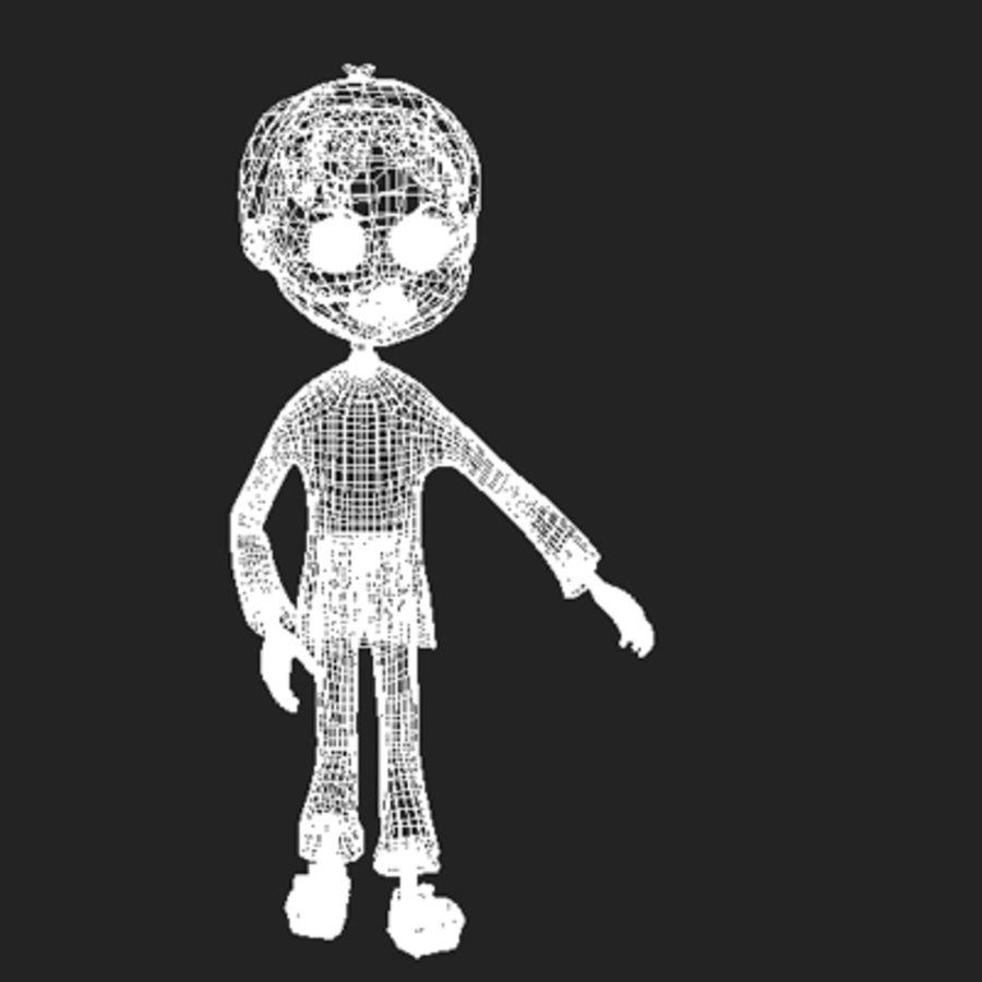 Cartoon boy Dean royalty-free 3d model - Preview no. 17