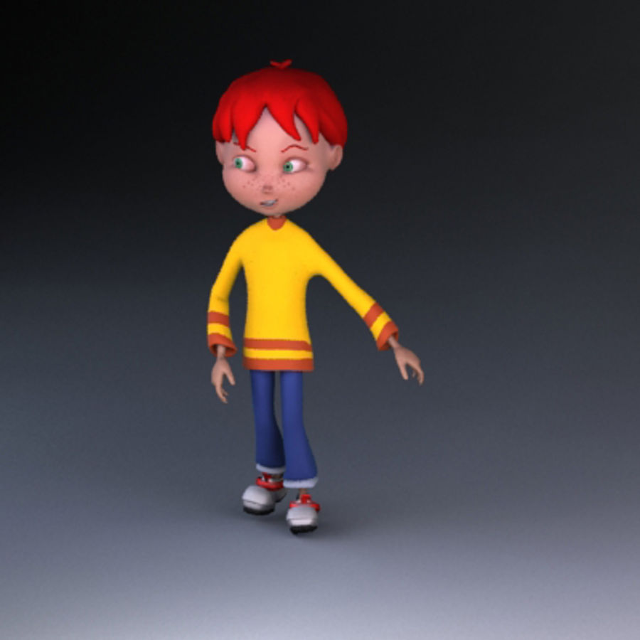 Cartoon boy Dean royalty-free 3d model - Preview no. 11
