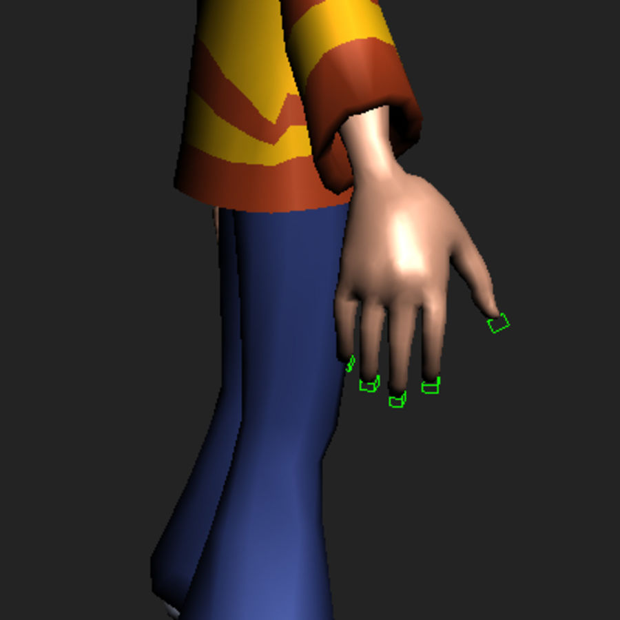 Cartoon boy Dean royalty-free 3d model - Preview no. 19