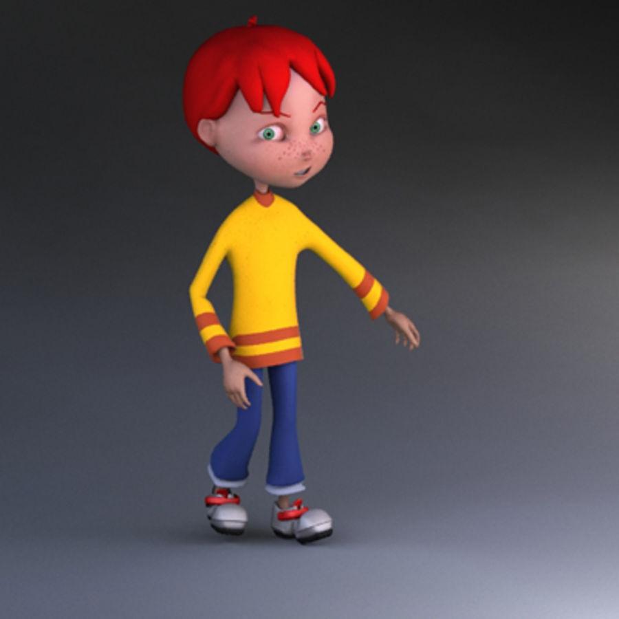 Cartoon boy Dean royalty-free 3d model - Preview no. 5