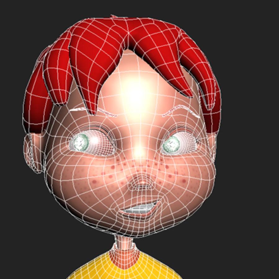 Cartoon boy Dean royalty-free 3d model - Preview no. 14