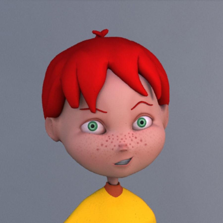 Cartoon boy Dean royalty-free 3d model - Preview no. 3