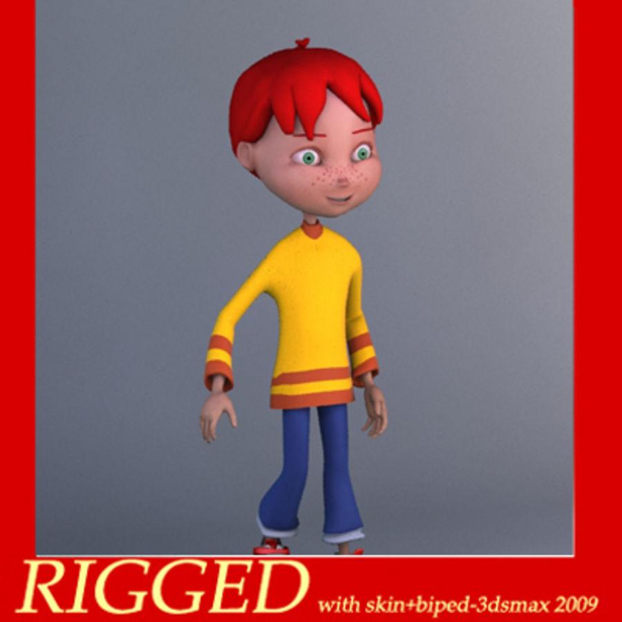 Cartoon boy Dean royalty-free 3d model - Preview no. 1
