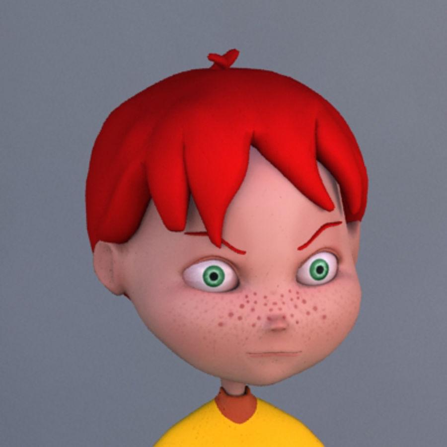 Cartoon boy Dean royalty-free 3d model - Preview no. 6