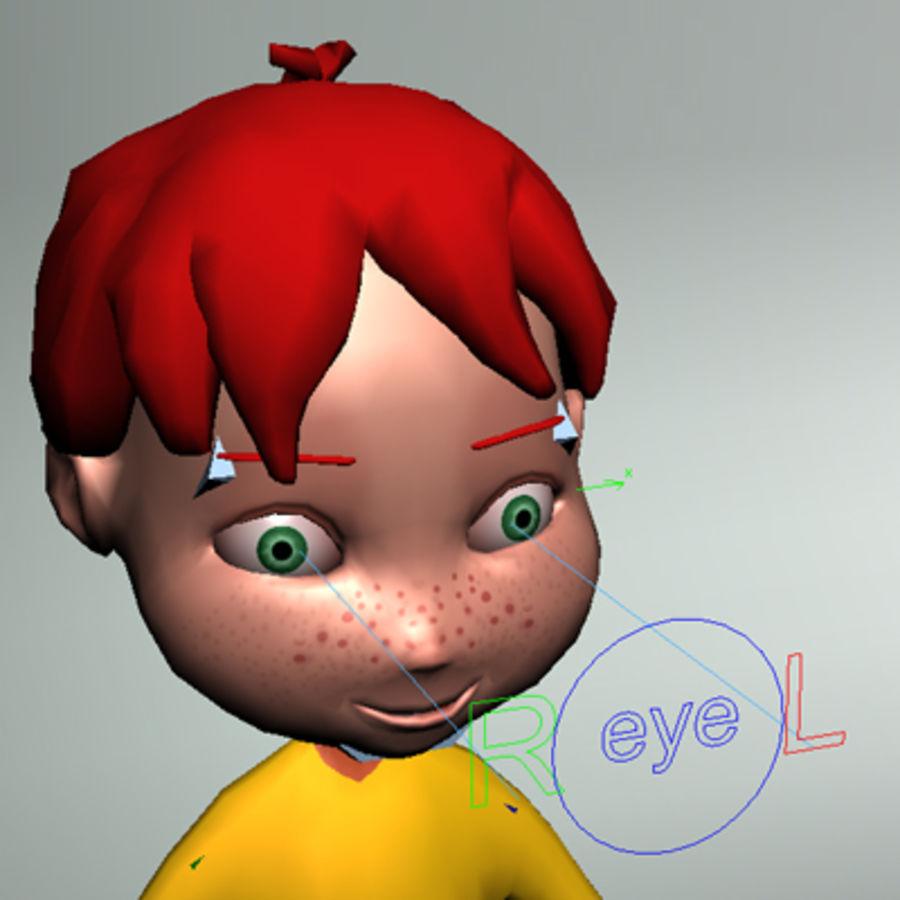Cartoon boy Dean royalty-free 3d model - Preview no. 15