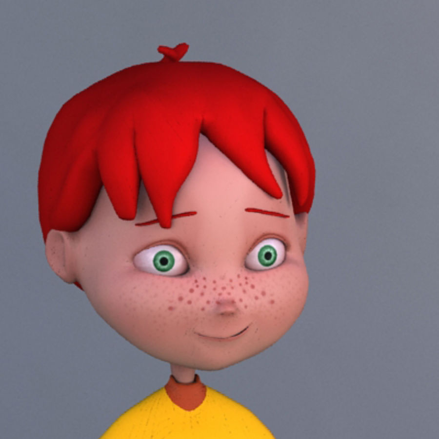 Cartoon boy Dean royalty-free 3d model - Preview no. 4