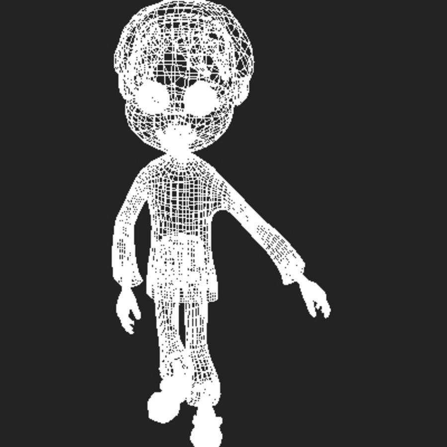 Cartoon boy Dean royalty-free 3d model - Preview no. 13