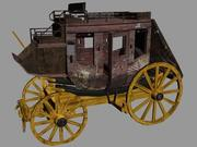 Classic Stage Coach 3d model
