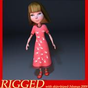 Menina dos desenhos animados 3d model
