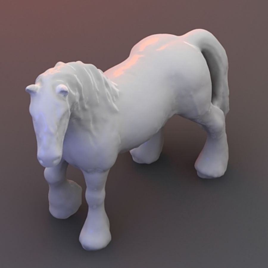 3D Stallion royalty-free 3d model - Preview no. 4