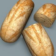 Whole wheat bread 3d model