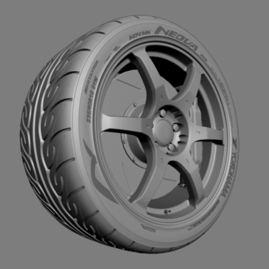 Volk Racing G2 Wheel royalty-free 3d model - Preview no. 4